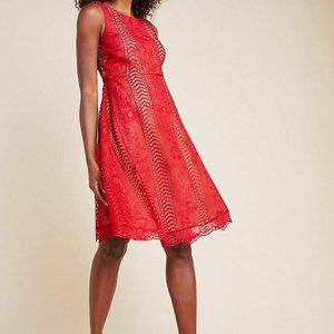 NWT Anthropologie $220 Georgia lace Mini Dress 0
